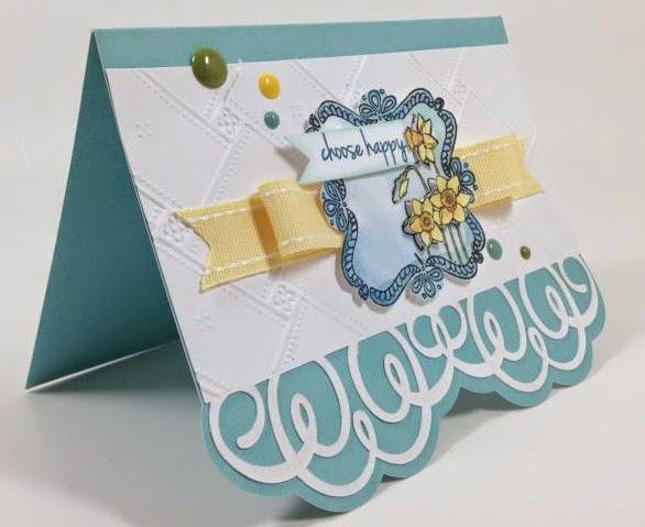 Cricut Happy Daffodil card sideview