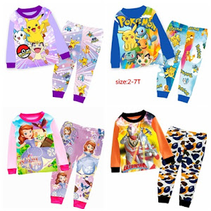 ADD NEW !!! 2016 (2t to 7t) SLEEPWEAR SET :)