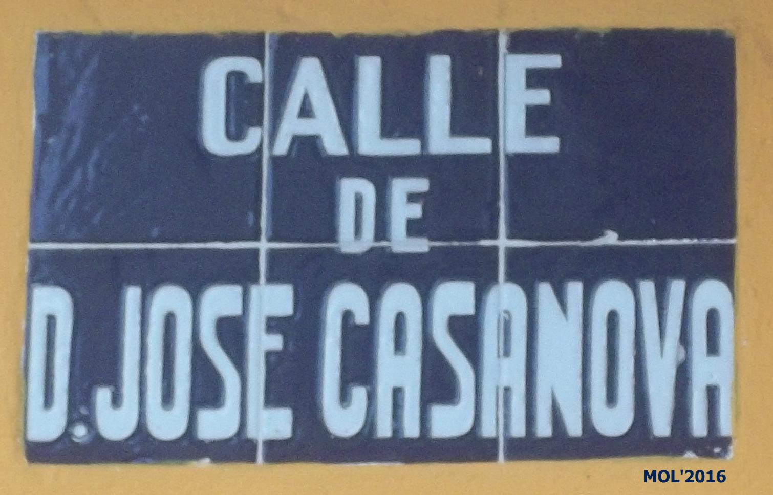 20.04.16 CALLES-CARRERS DE LA CIUTAT DE MANISES: JOSÉ CASANOVA DALFÓ