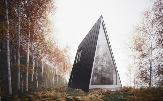 Moon to Moon: A Frame (Triangle) Houses...
