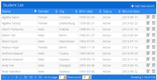 10 jquery grids plugins jquery by example for Hide table th jquery