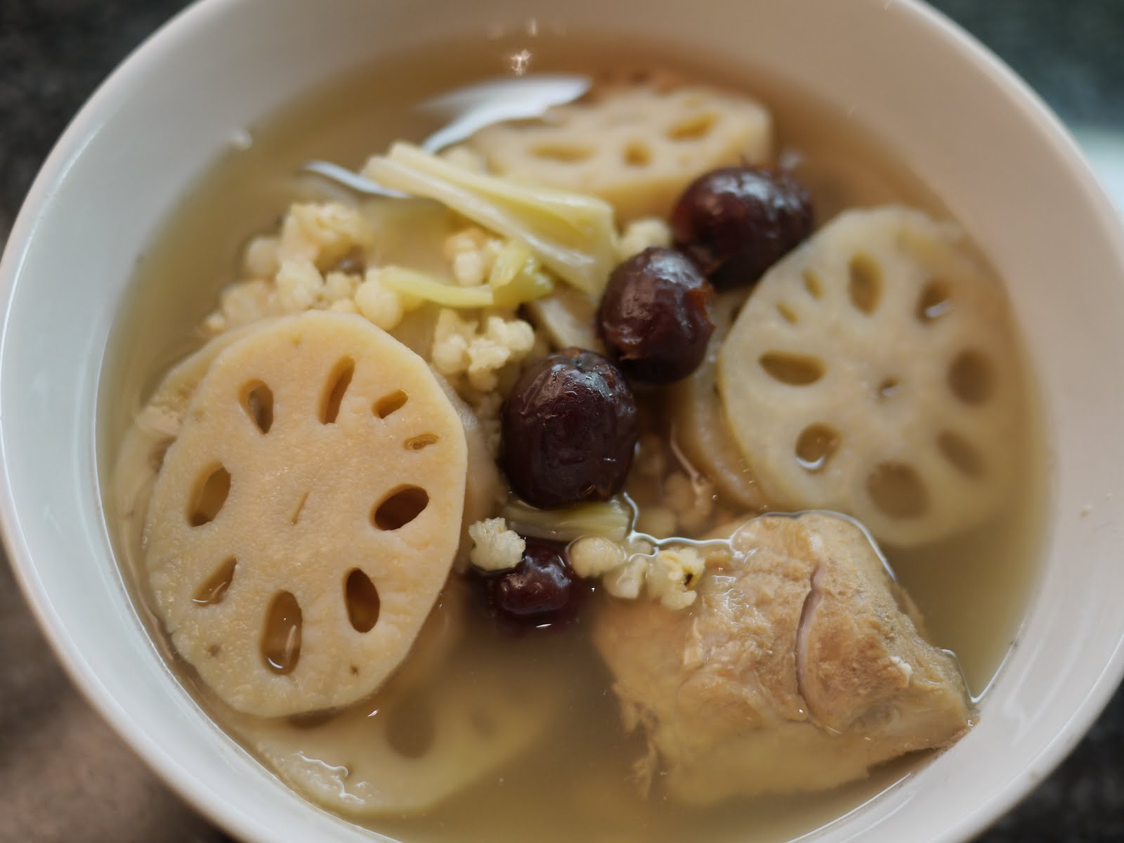 carol s kitchen chinese lotus root barley soup