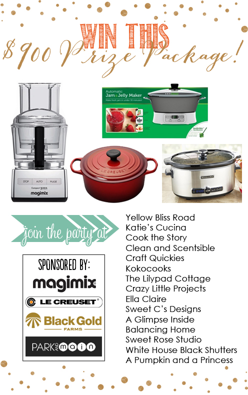 An AMAZING Giveaway with a prize package valued at over $900!!! Stock up your kitchen with fabulous cookware!!!