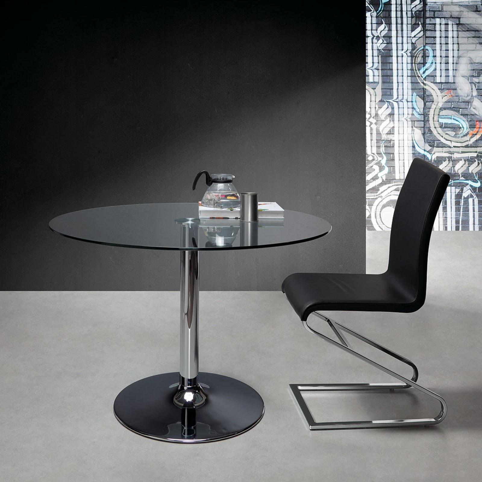 El blog de demarques como decorar un comedor peque o - Mesa comedor cristal redonda ...
