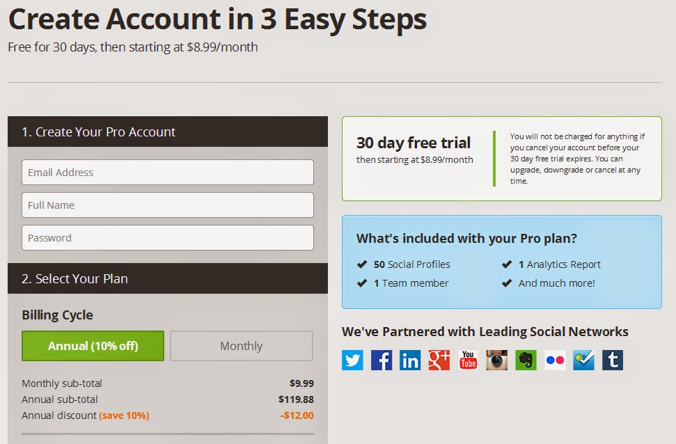 Hootsuite Create Account in 3 Easy Steps.