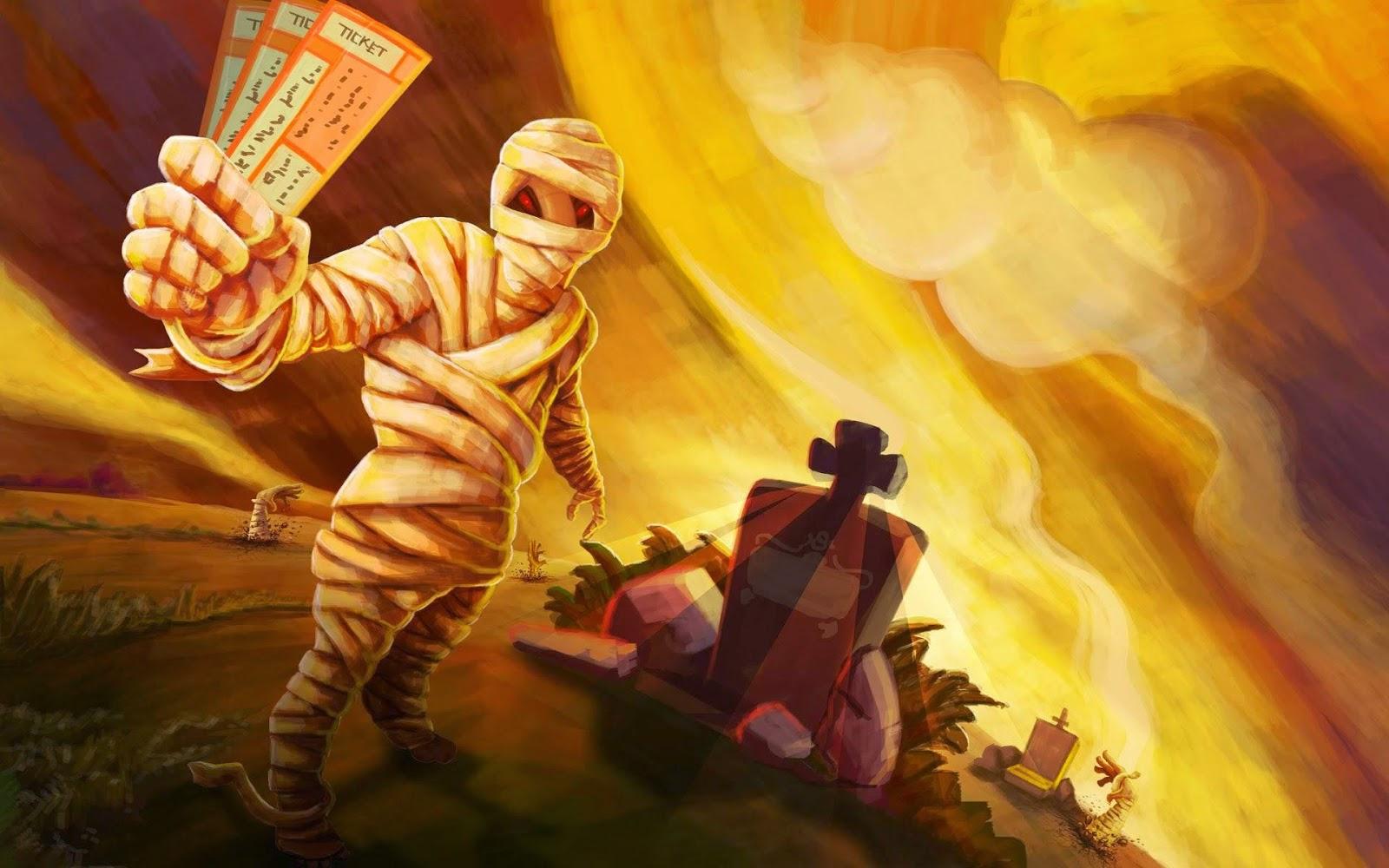 Papel de Parede Dia Das Bruxas Múmia halloween wallpaper image hd free
