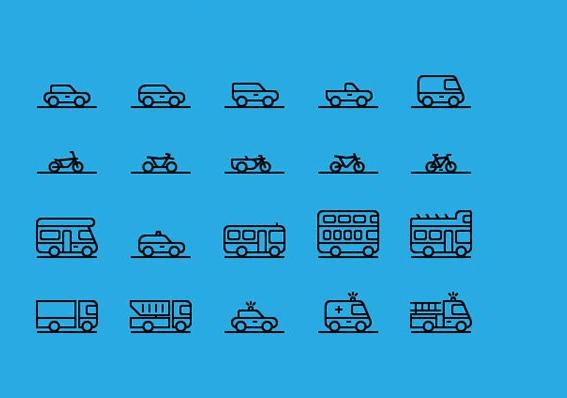 Traffic & Transportation Icon (AI, PNG)