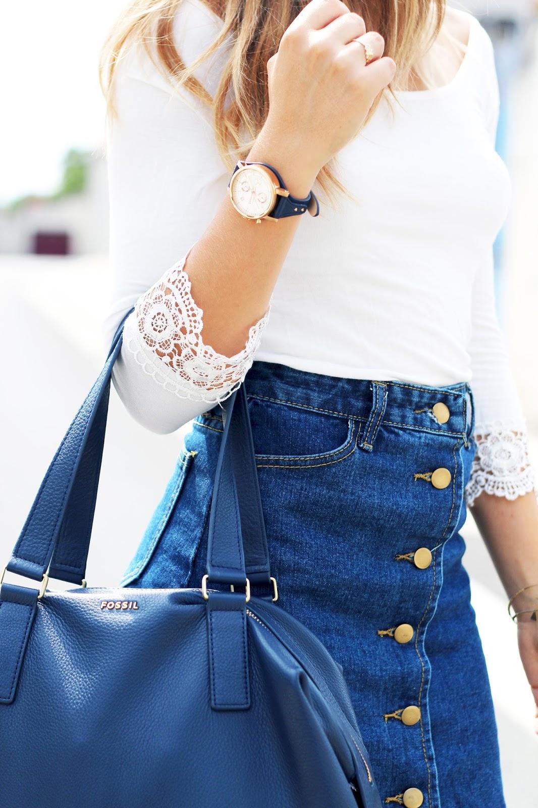 Blog mode tendance bleu jean rentrée