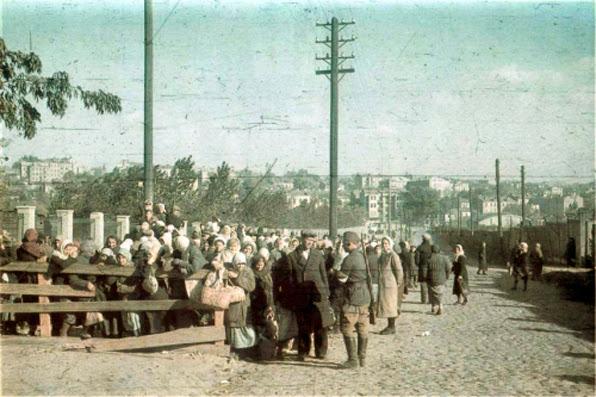 """Сентябрь 1941 Киев, фотография Хэле, Стадион """"Зенит"""""""