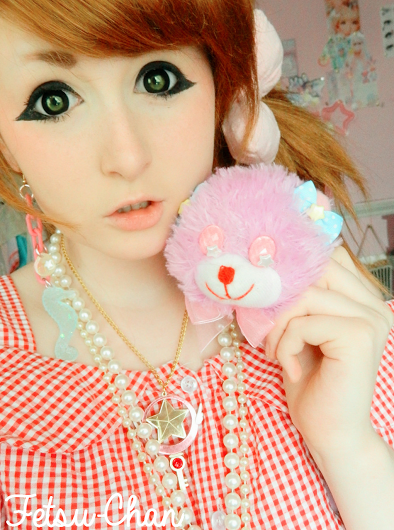 I.Fairy Pearl Black colored contacts