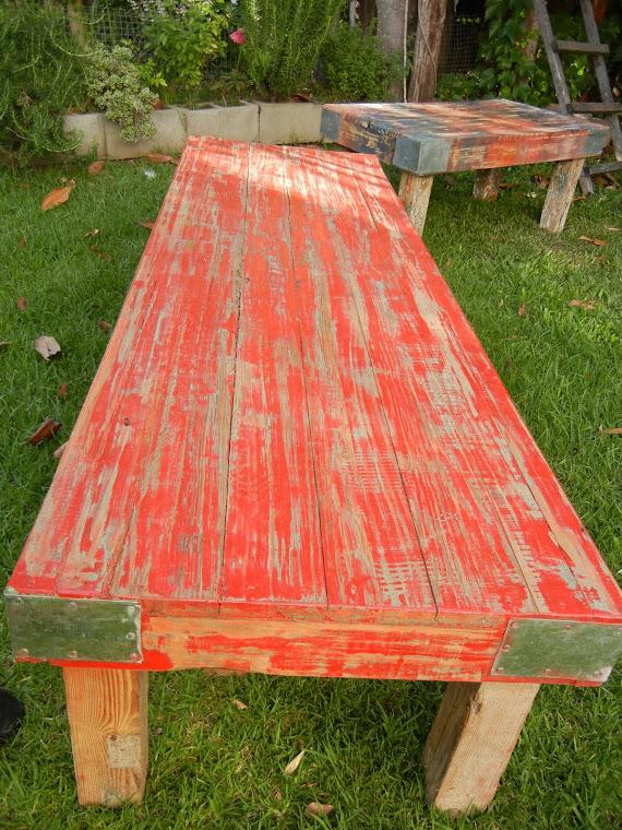 NUEVA!!! Mesa Pinotea Roja 1,80 x 0,60 m