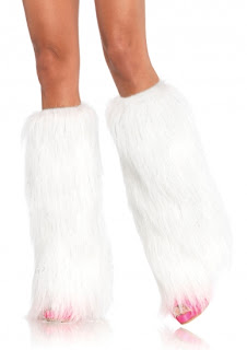 White Furry Boot Covers