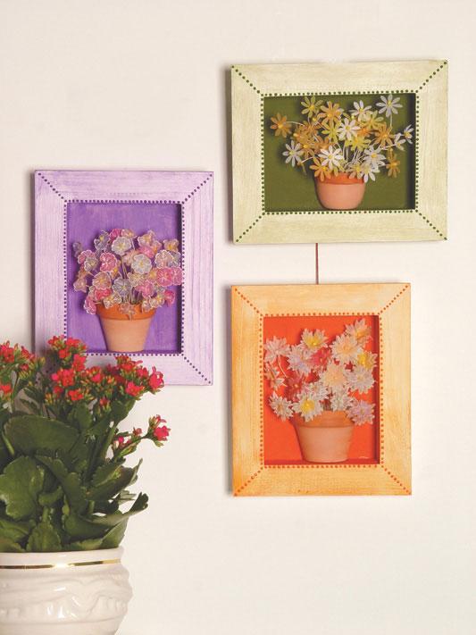 Artesanato Geraldi ~ Simplesmente Artesanato Quadros com flores de papel vegetal pap