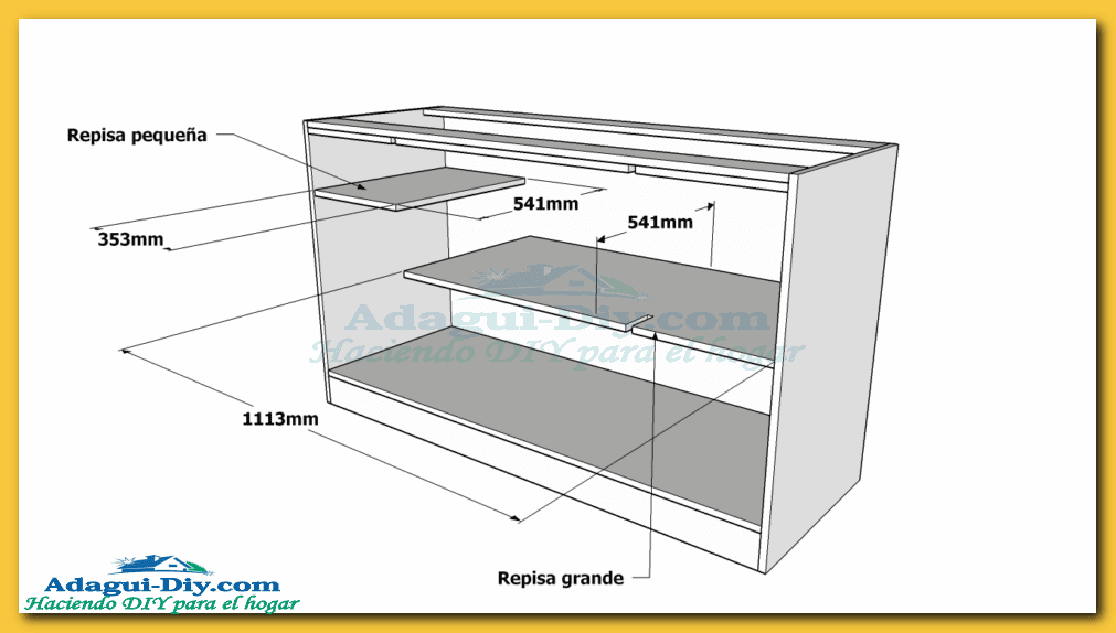Como hacer muebles de cocina web del bricolaje dise o diy for Planos para fabricar muebles de cocina