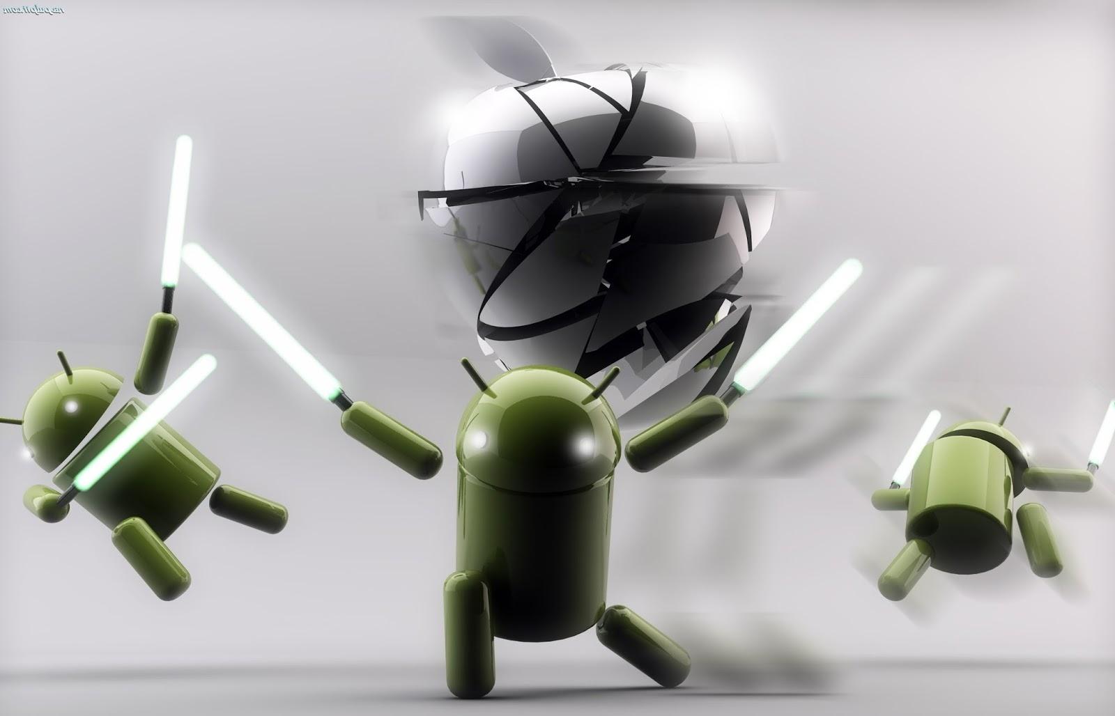 Android le pisa los talones a iOS