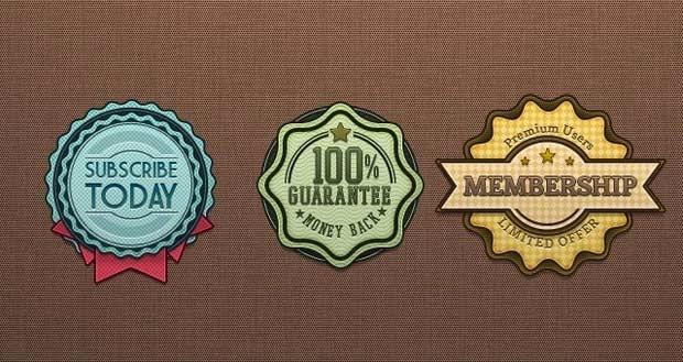 Free Psd Retro Badges Vintage