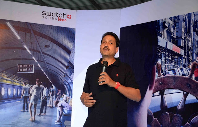 Mr. Jyoti Das - Brand Manager, Swatch India at the Scuba Libre Launch