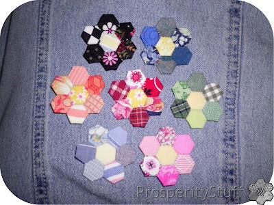 ProsperityStuff Quilts: EPP hexagon flowers