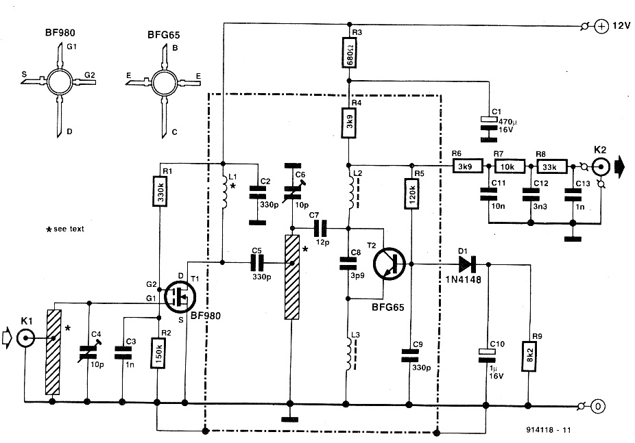 Uhf Receiver Schematic - Block And Schematic Diagrams •