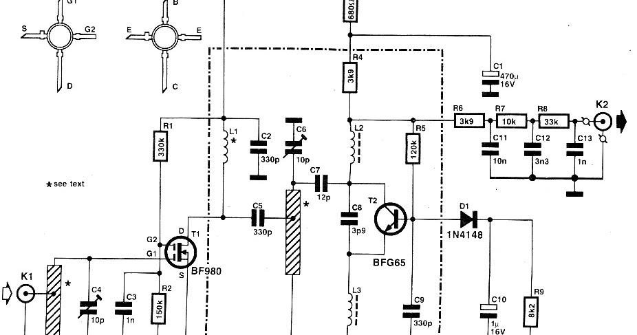 Various diagram: UHF FM Remote Control Receiver Circuit