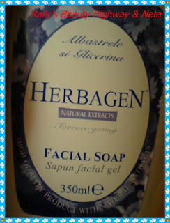 Review sapun facial Herbagen cu albastrele si glicerina