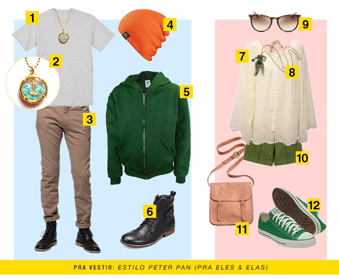 Estilo Peter Pan: roupas