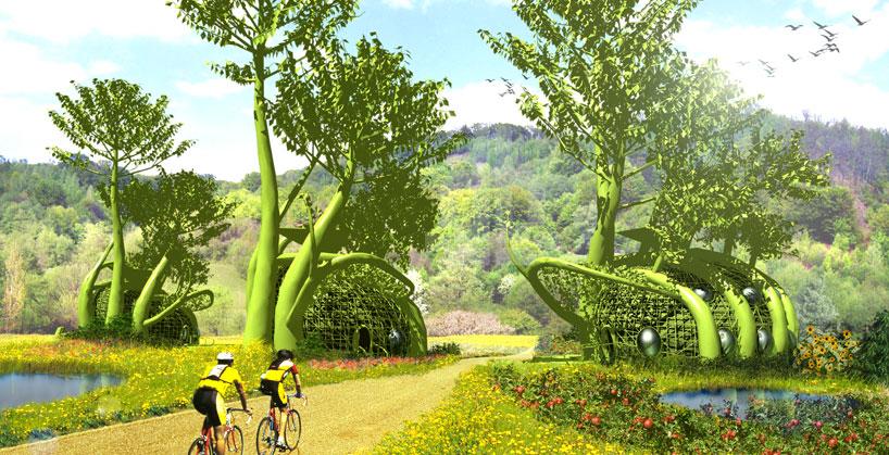 Casa del árbol arquitectura diseño de casas ecologicas