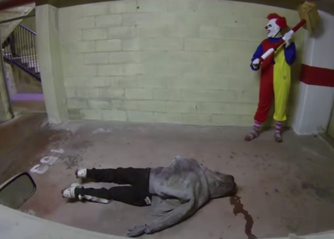video terror payaso asesino