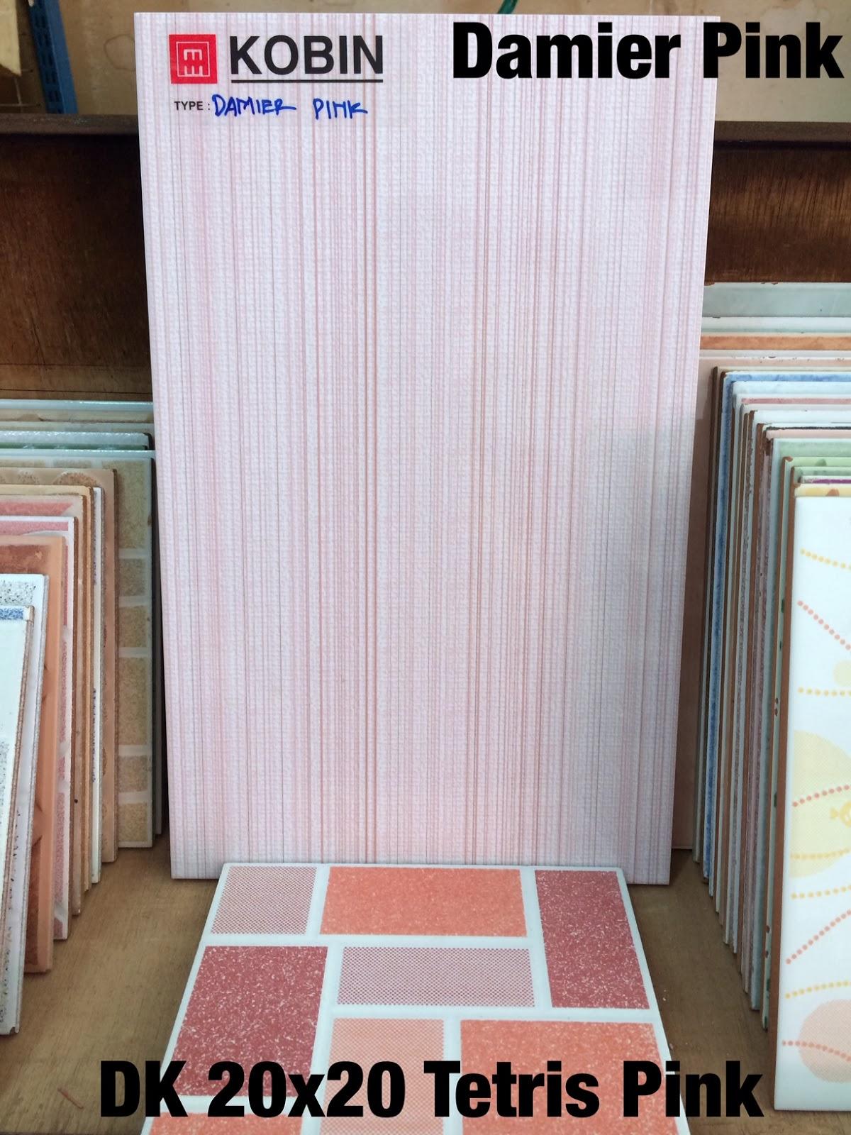 Kobin 25x40 Damier Pink DK 20x20 Tetris Pink