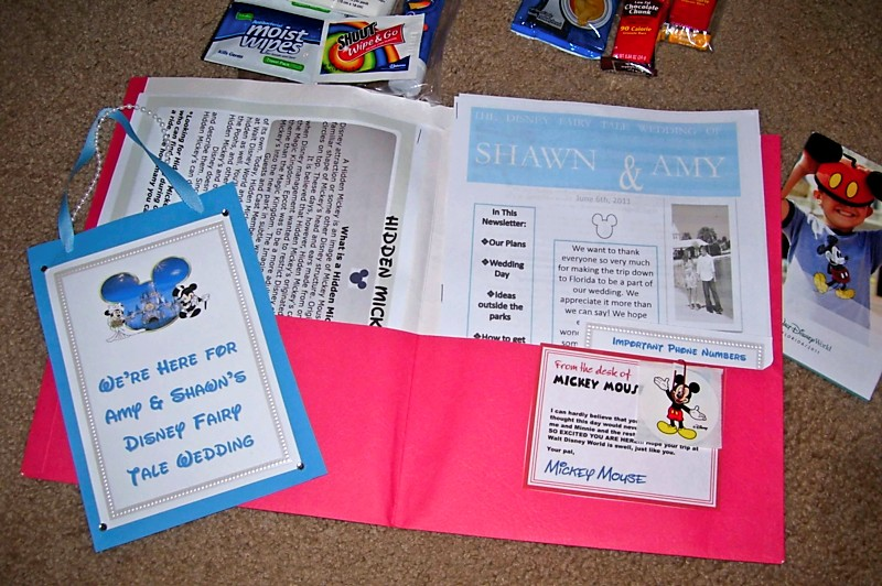 The Disney Wedding Blog Amy Welcome Bags