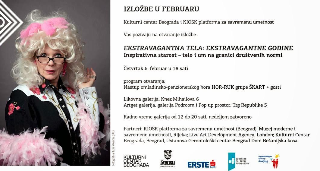 """Otvaranje izložbe """"Ekstravagantna tela: ekstravagantne godine"""" u Kulturnom centru Beograda"""