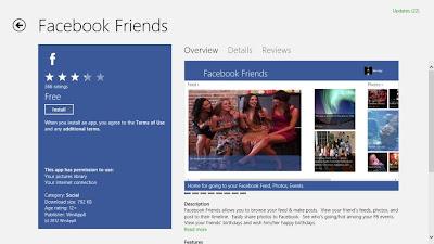 Aplikasi Facebook Win8
