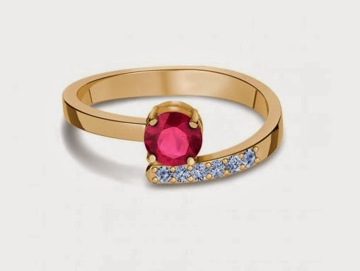 Promise Ruby Cross Over Ring