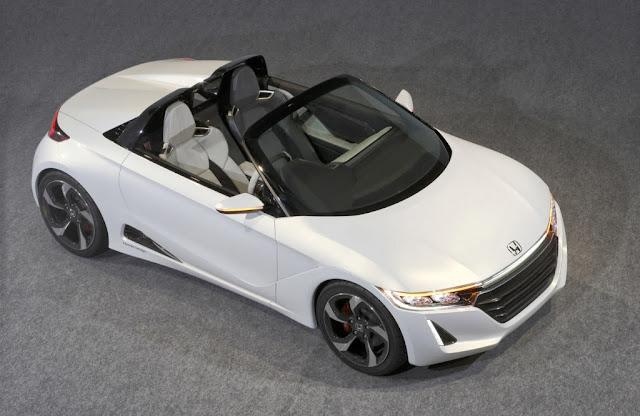 Honda S660 Concept, vista aérea