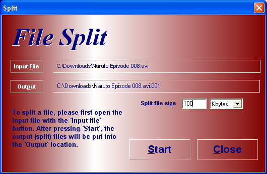 HJSplit free file splitting software for Windows Linux and other platforms