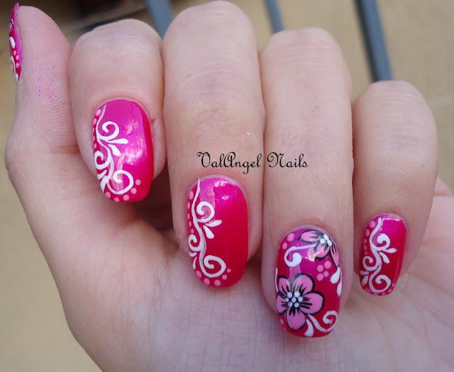 Easy Nail Designs Swirls : Valangel nails art nail quot flowers and swirls