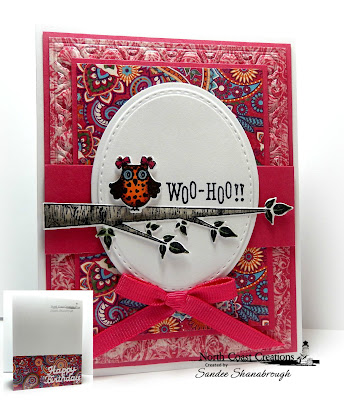 North Coast Creations Stamp set: Who Loves You?, North Coast Creations Custom Dies: Owl Family, Happy Birthday, Our Daily Bread Designs Custom Dies: Ovals, Stitched Ovals, Beautiful Boho Background, Our Daily Bread Designs Beautiful Paper Collection