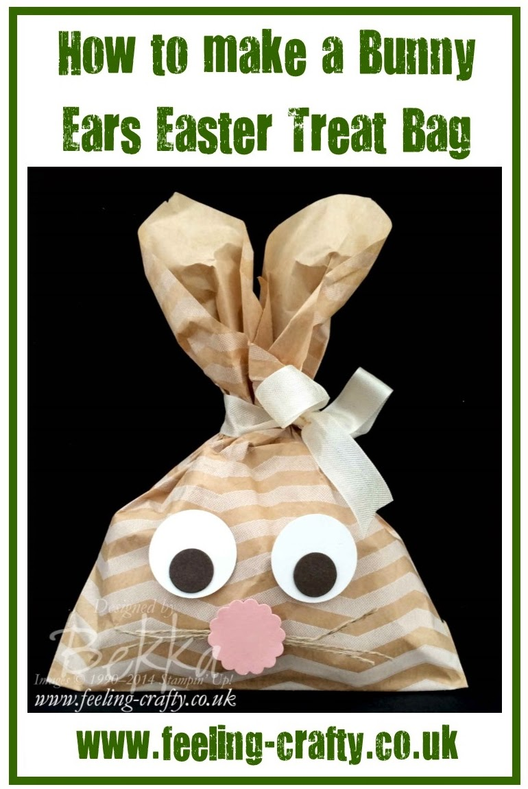 How to make a bunny ears treat bag - a craft project you could do with kids
