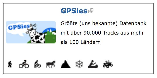 GPSies off road tracks für den Geländewagen