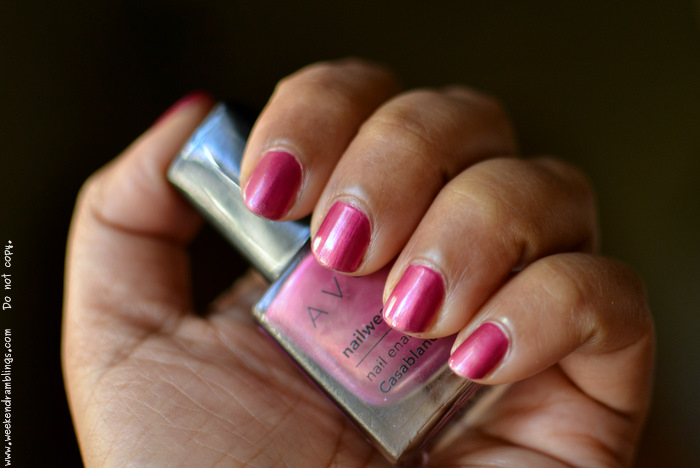 avon nailwear enamel polish colour casablanca notd makeup blog reviews