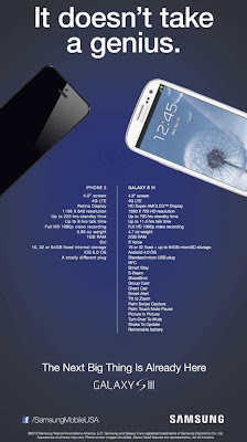 Samsung Galaxy SIII Ad vs iPhone 5