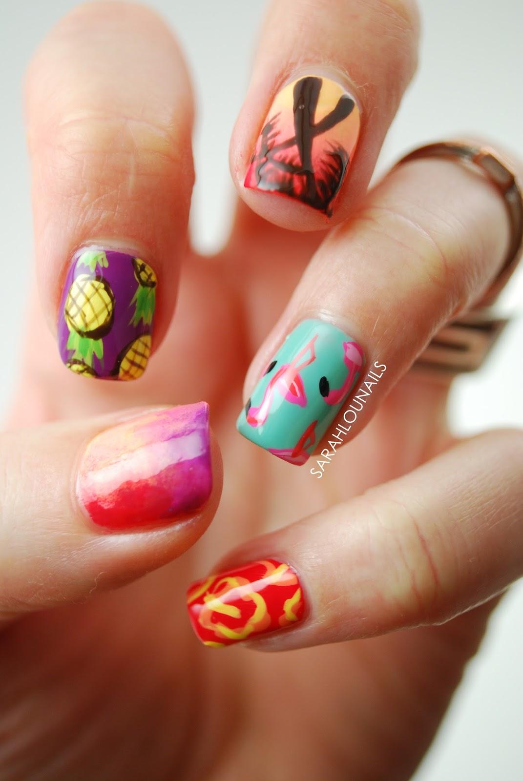 Sarah Lou Nails: Summer Print Nails!