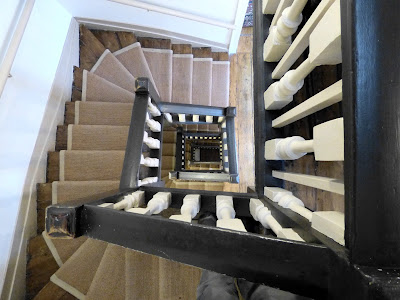 A view down the spiral staircase, Dr Johnson's House Museum © Andrew Knowles