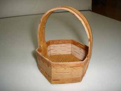 Unique Bark Crafts Small Basket