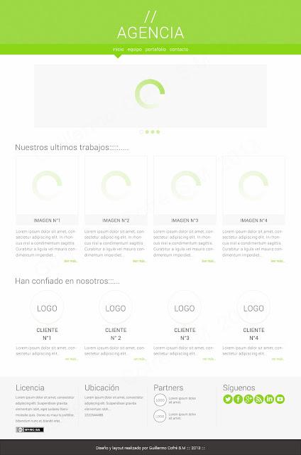 Diseño y diagramación homepage