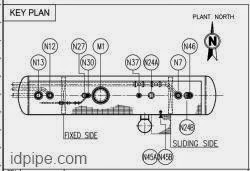 Key Plan pada horizontal vessel
