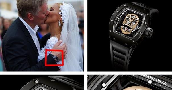 Внимание сми привлёк свадебный подарок навки: невеста преподнесла пескову эксклюзивные часы richard mille rm стоимостью тыс.