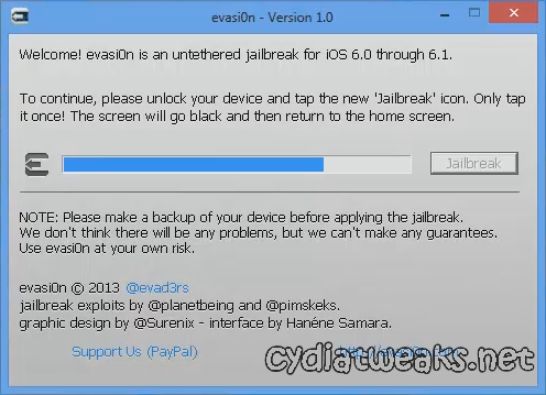 Screenshot 3 Tutorial Cara Jailbreak iOS 6.0, 6.0.1, 6.0.2, 6.1 Untethered Menggunakan Evasi0n
