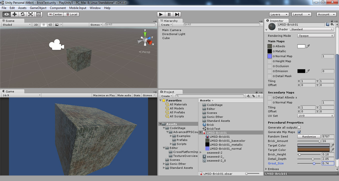 main thing is your substance files this is a file which holds all of the nodes and settings you created in one file which can be used in other applications