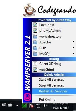 PHP: WampServer Definicion, Instalación y configuración